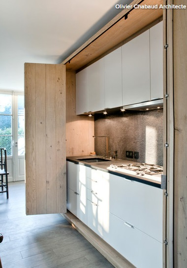 Genial Effective Downlighting And A Contemporary Finish Give This Kitchen In A  Cupboard The Wow Factor. Rather Than Trying To Blend It Into The  Background, ...